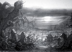 Drawn graveyard concept art The at > mystery and