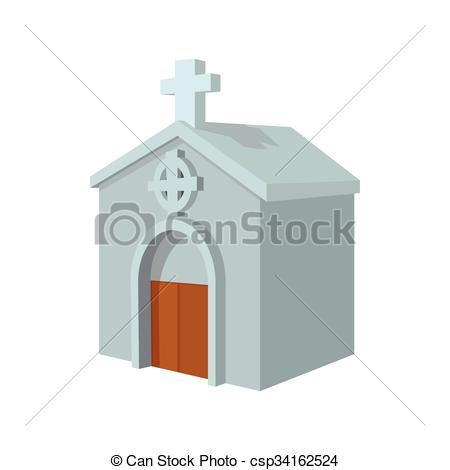 Drawn graveyard crypt Cemetery icon csp34162524 Vector Crypt