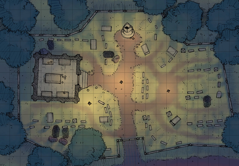 Drawn graveyard crypt A The for D&D D&D