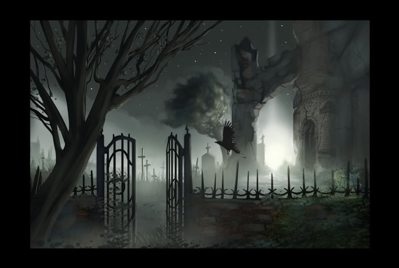 Drawn graveyard crypt A critiques of graveyard this