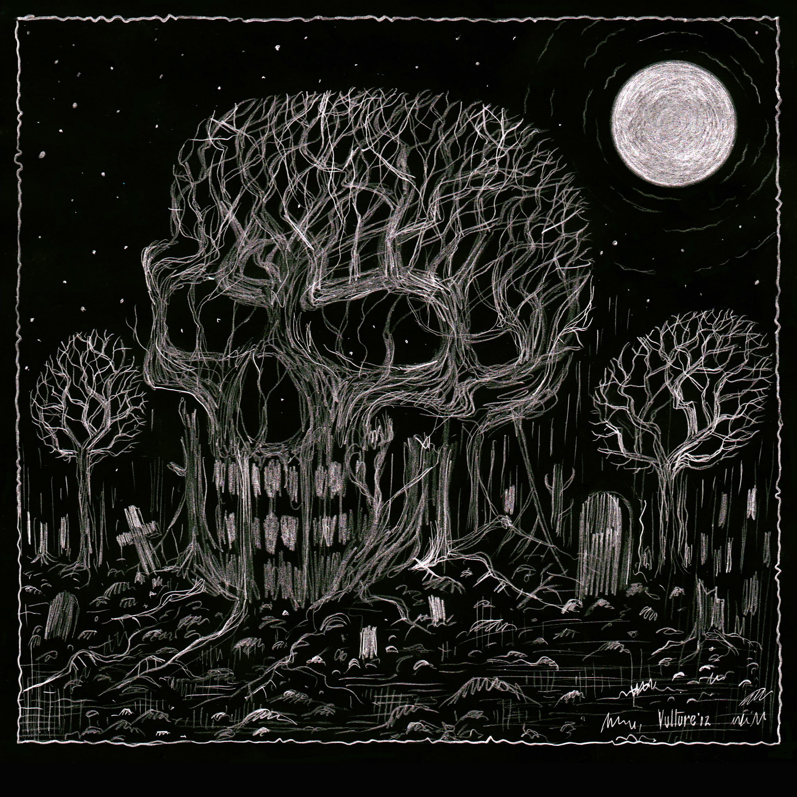 Drawn graveyard dark A offermoord Drawing To by