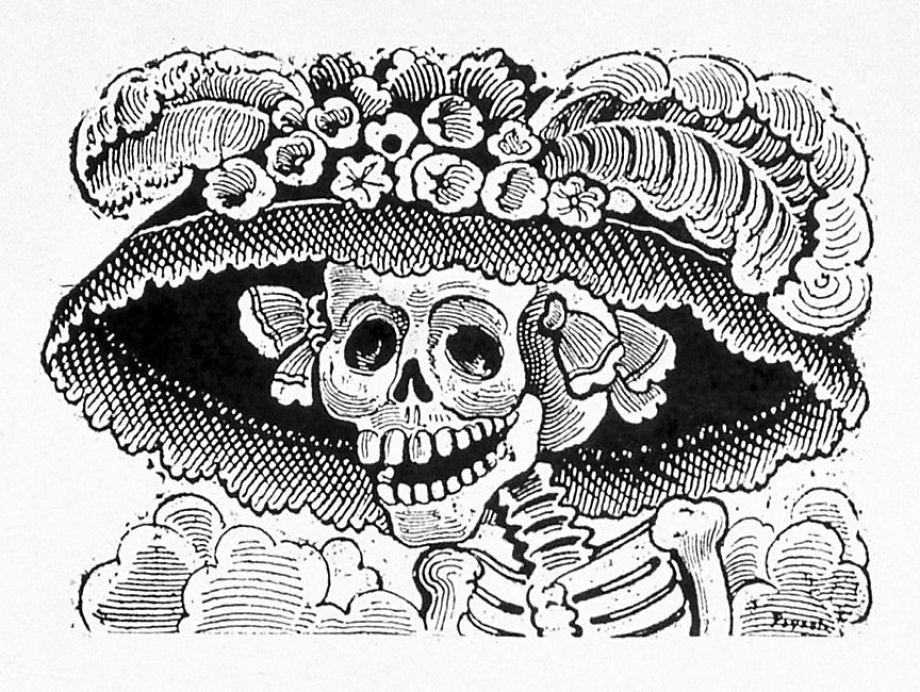 Drawn graveyard death After Catrina in Helping Posada