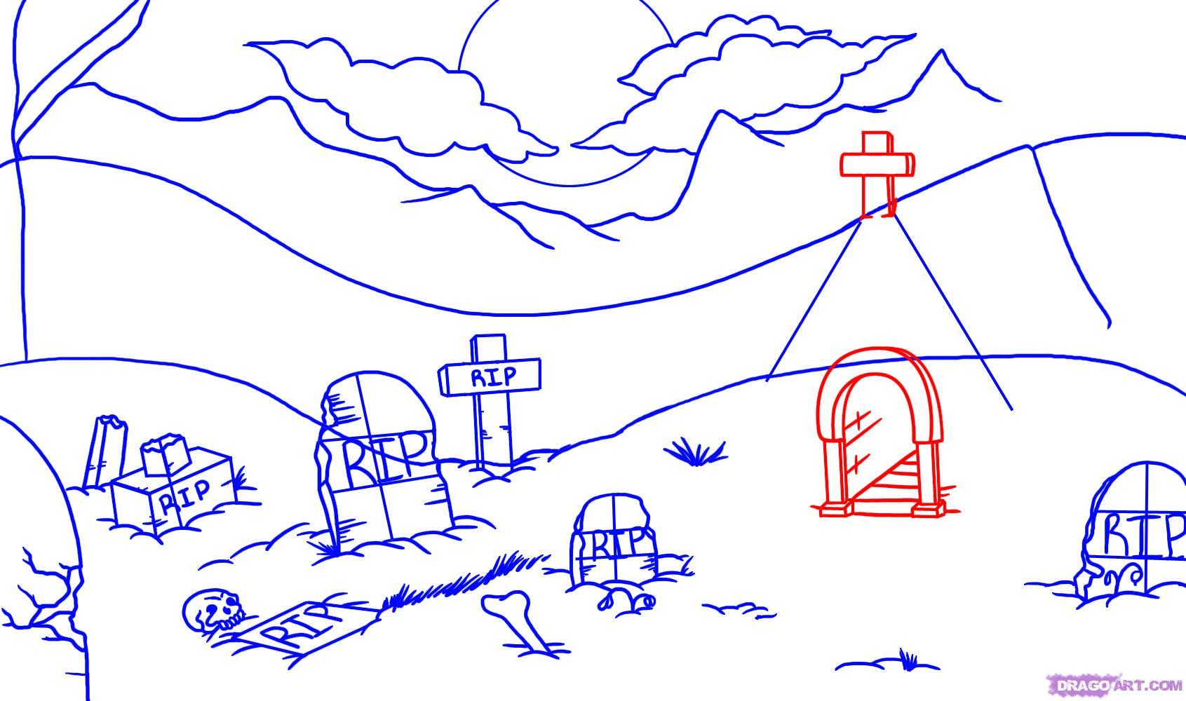 Drawn graveyard disney To Step Halloween Seasonal a