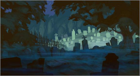 Drawn graveyard disney Few Director Walt Feature remembers