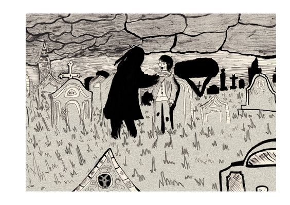 Drawn graveyard great expectation Stranger in and  #graveyard