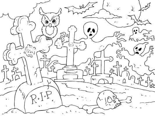 Drawn graveyard halloween Images in Halloween 5 make