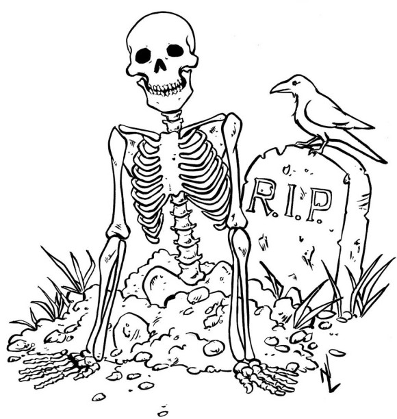Drawn graveyard halloween Kids Coloring Pinterest Coloring Pages