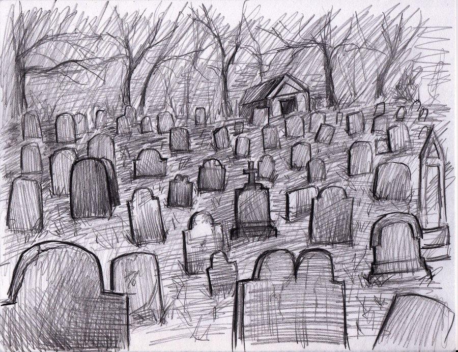 Drawn graveyard pencil drawing Pencil Art Art Realistic Graveyard