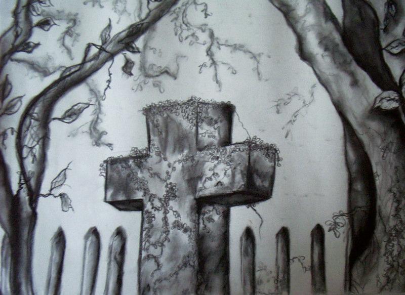 Drawn graveyard pencil drawing Art Image Images Realistic Graveyard