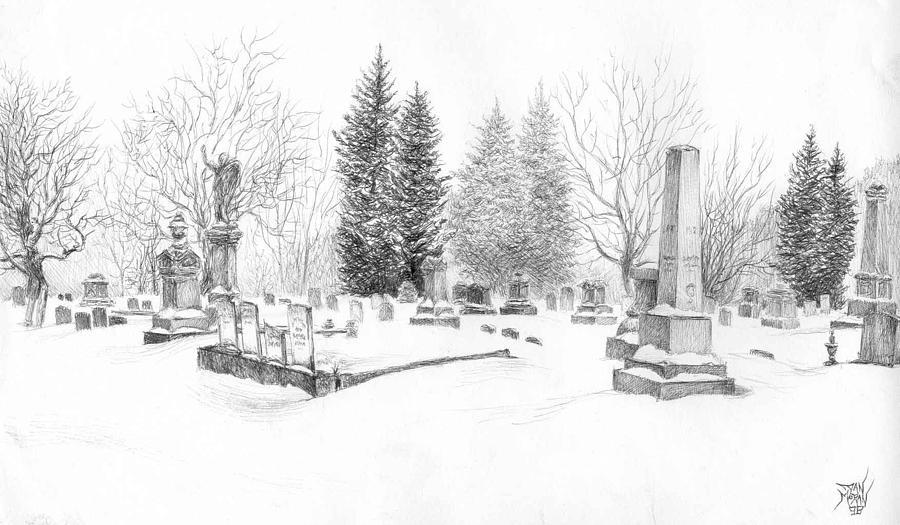Drawn graveyard sketch The Graveyard Moran Dan Drawing