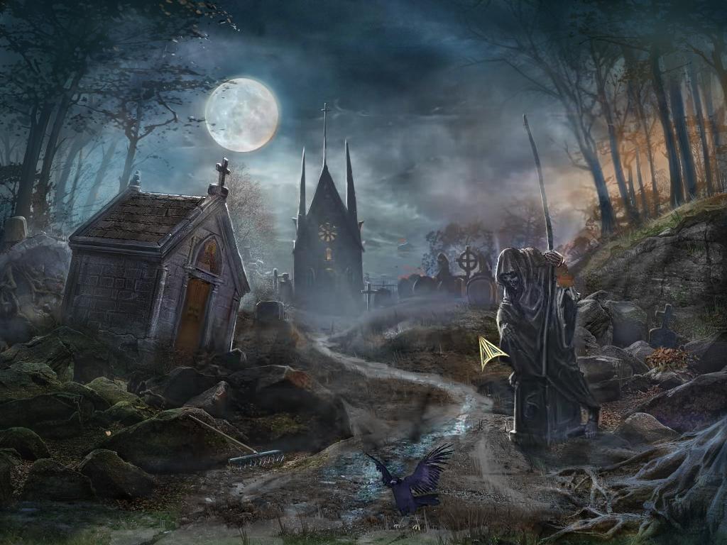 Drawn graveyard spooky graveyard Graveyard Spooky WallpaperSafari Graveyard Wallpaper