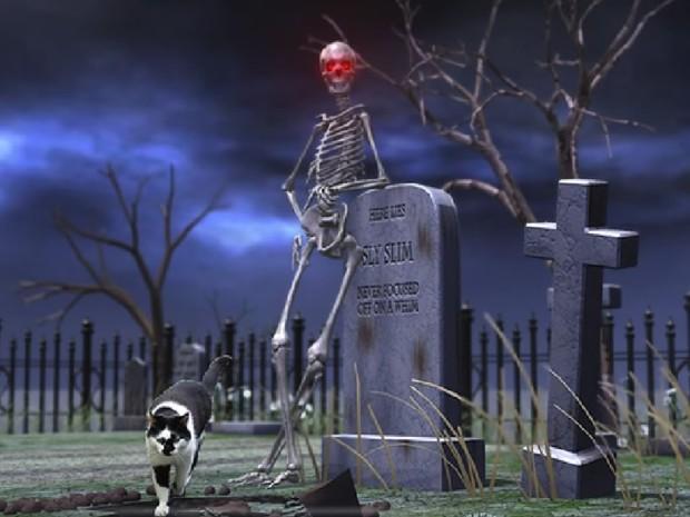 Drawn graveyard spooky graveyard Innovation inc Shift  the