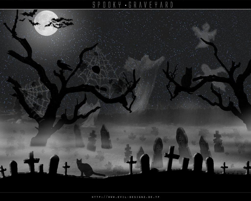 Drawn graveyard spooky graveyard Wallpaper on Spooky Graveyard Graveyard
