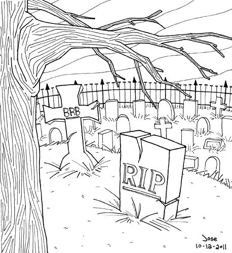 Drawn graveyard spooky graveyard  Graveyard Drawings