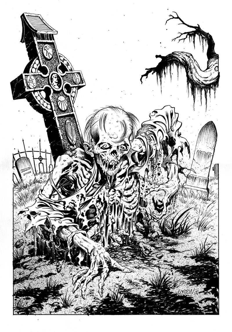 Drawn tombstone horror Drawing Zombies Lineart:  Zombie