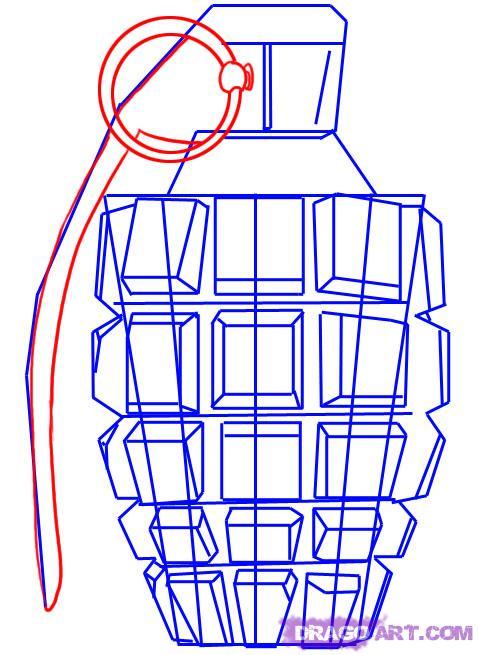 Drawn grenade #11