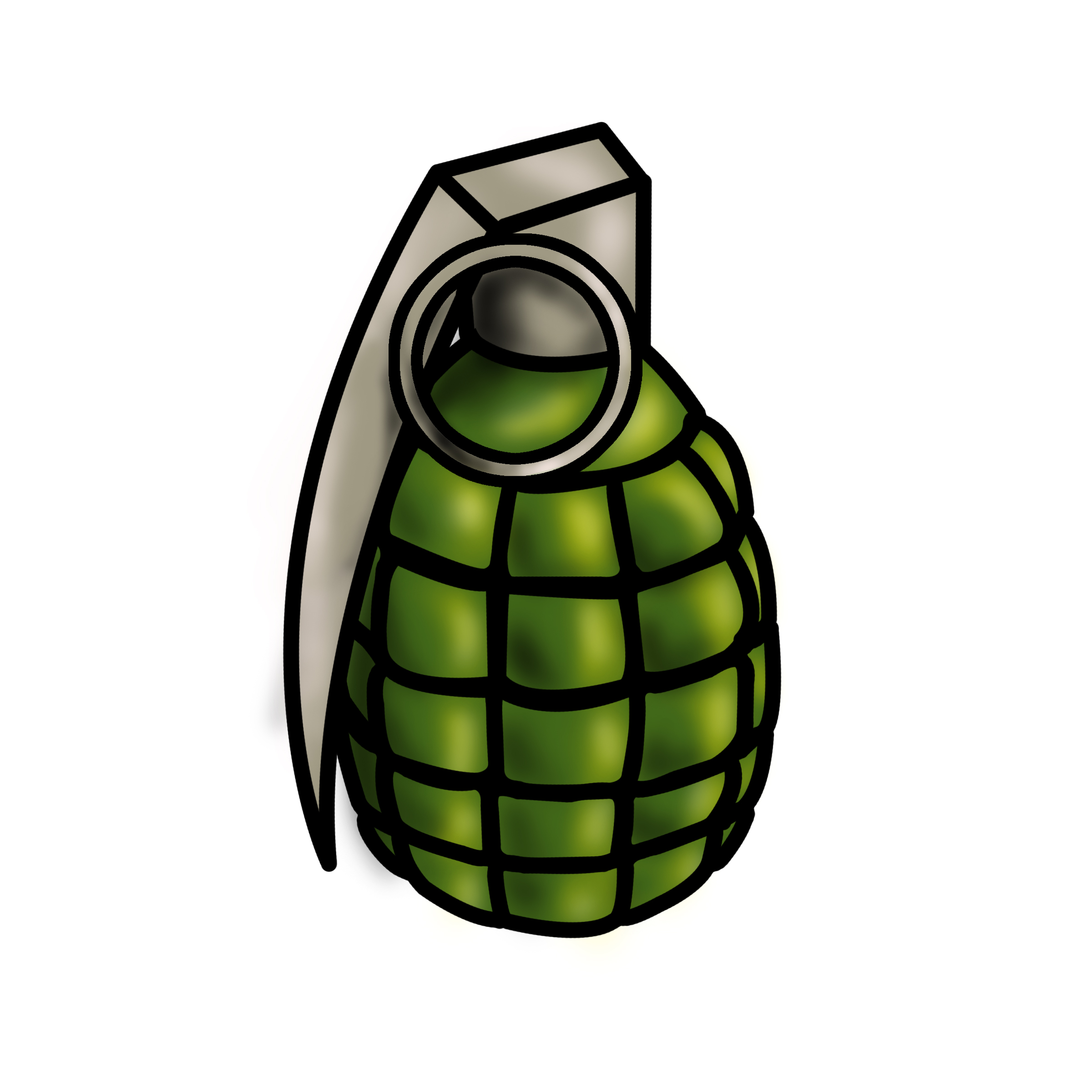 Drawn grenade #4