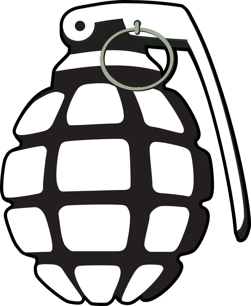 Grenade clipart 20clipart Clipart Hand collection grenade