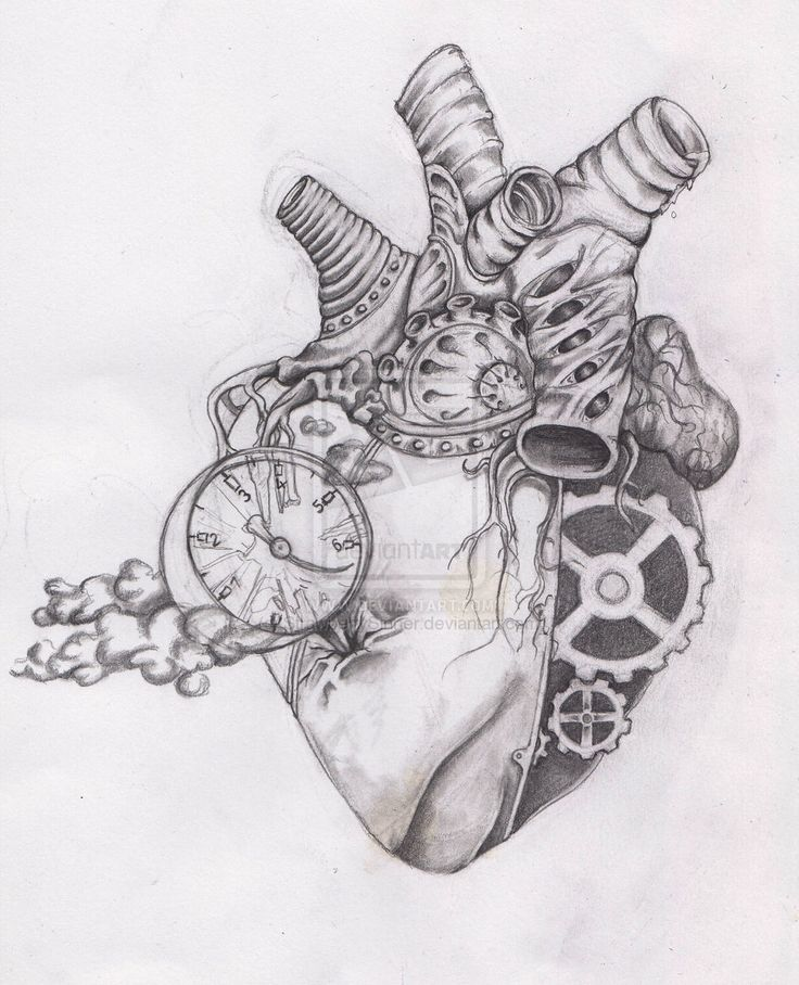 Drawn hearts art #3