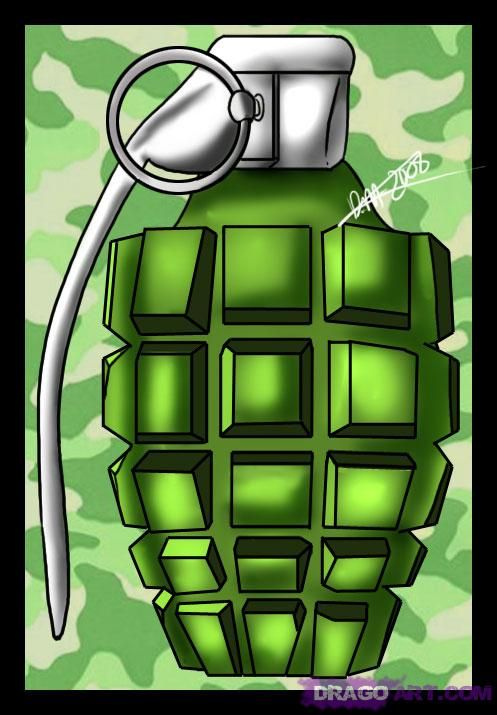 Drawn grenade animated Drawing Grenade best Cartoon images