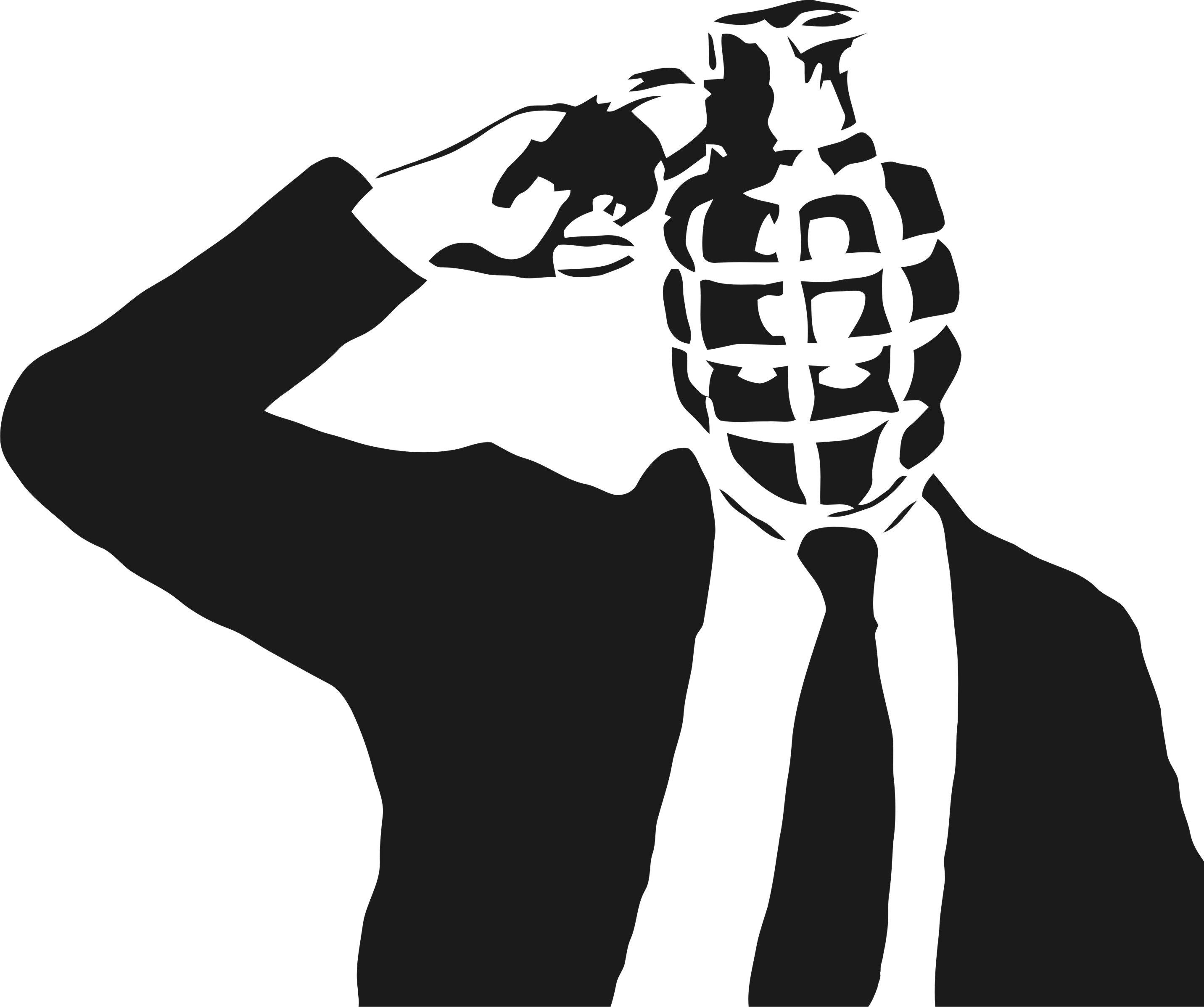 Drawn grenade black and white Fonseca's Carlos  Magazine 3:AM