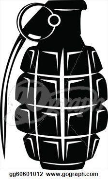 Drawn grenade black and white Hand Design Search Google Military