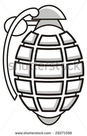 Drawn grenade cartoon war Illustration  Draw grenade stock