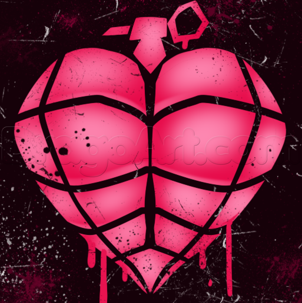 Drawn grenade graffiti How heart to Grenade by