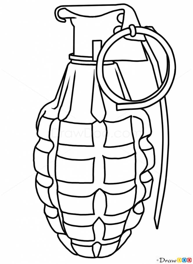 Drawn grenade graffiti  Grenade How to and