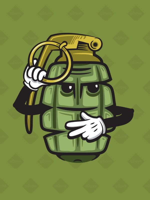 Drawn grenade graffiti Grenade Studios Stickers on by