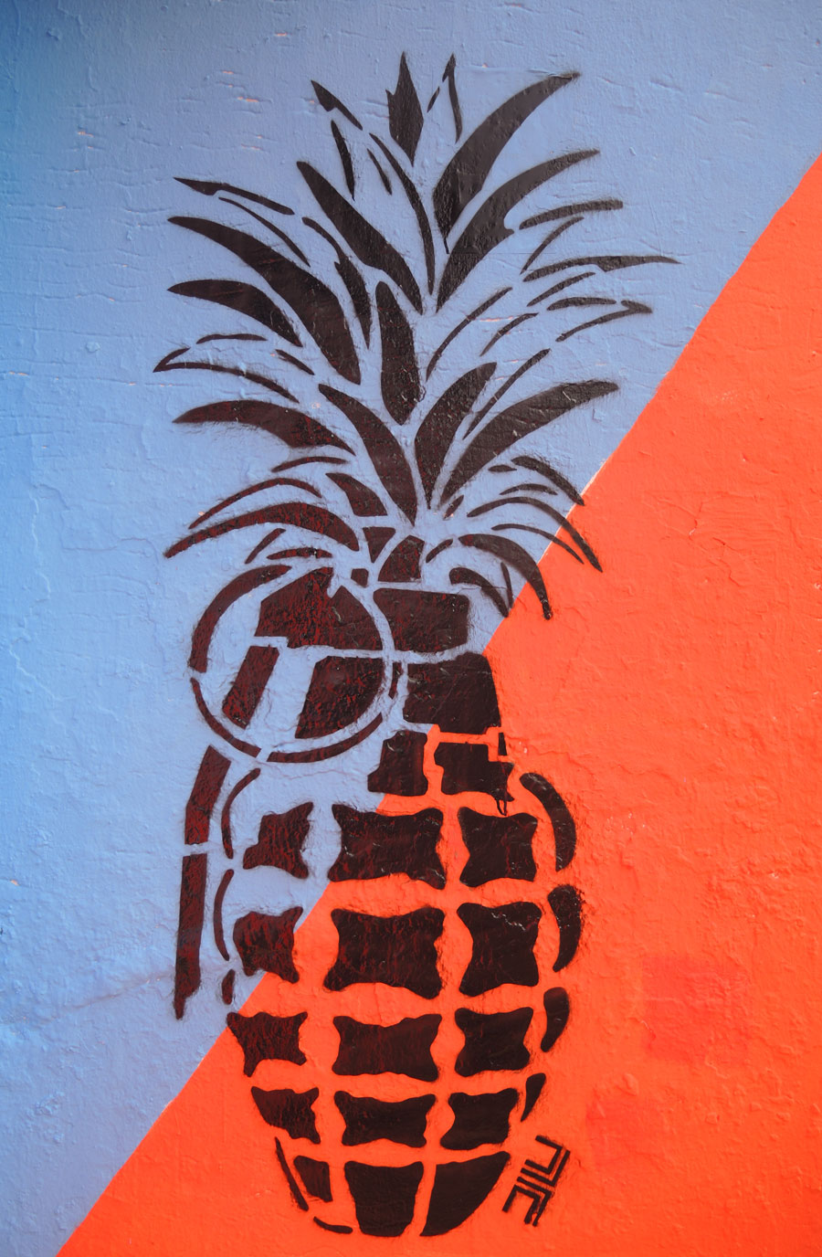 Drawn grenade graffiti Pineapple art hand grenade Peru