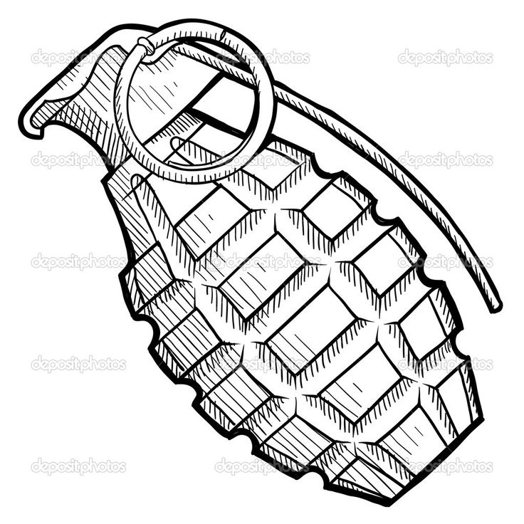 Drawn grenade hand grenade Grenade Grenade The tattoo ideas