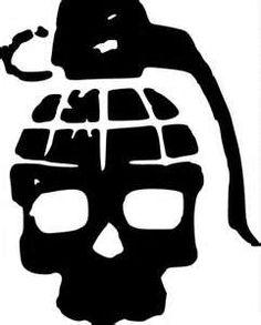 Drawn grenade skull Tatting Pinterest grenade and Skull