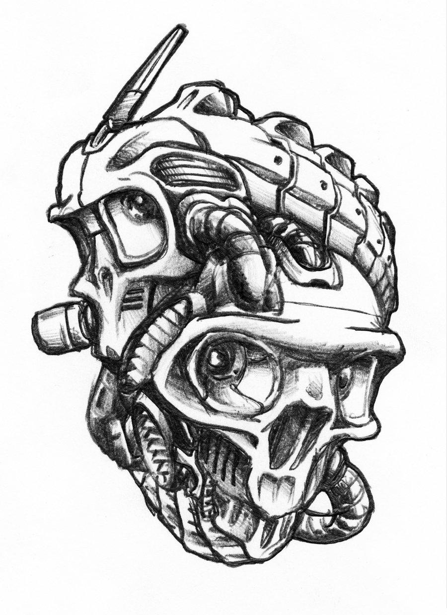 Drawn grenade skull Module SteveGolliotVillers DeviantArt by by