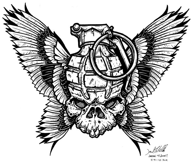 Drawn grenade skull Tidwell EB update! Forum •