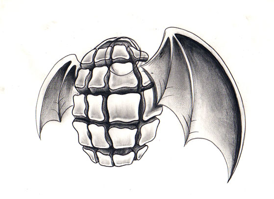 Drawn grenade wing By Grenade wings Grenade jerrrroen