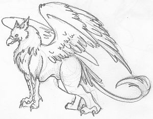 Drawn griffon Of Griffon to a but