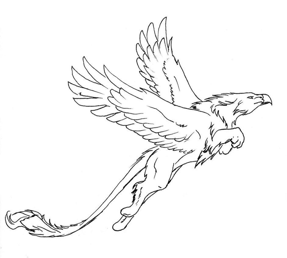 Drawn griffon Griffon by griffon on lineart