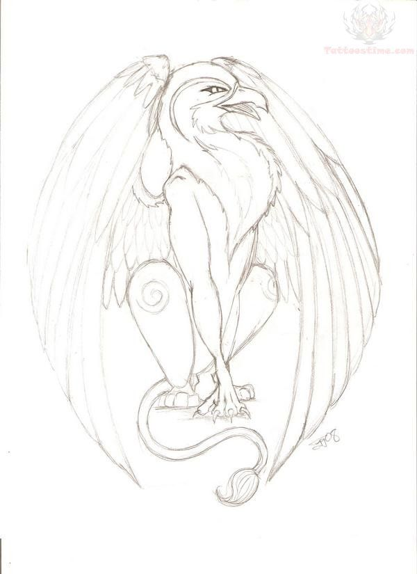 Drawn griffon gryphon Images Pinterest on best Griffin