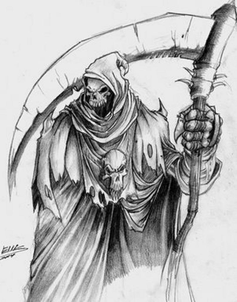 Drawn grim reaper halloween Realistic Grim Pencil Reaper Grim