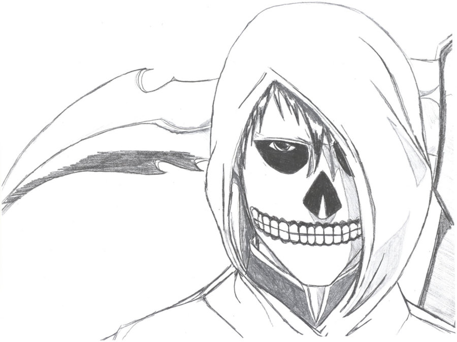 Drawn grim reaper AM Reaper Simple Drawing Grim