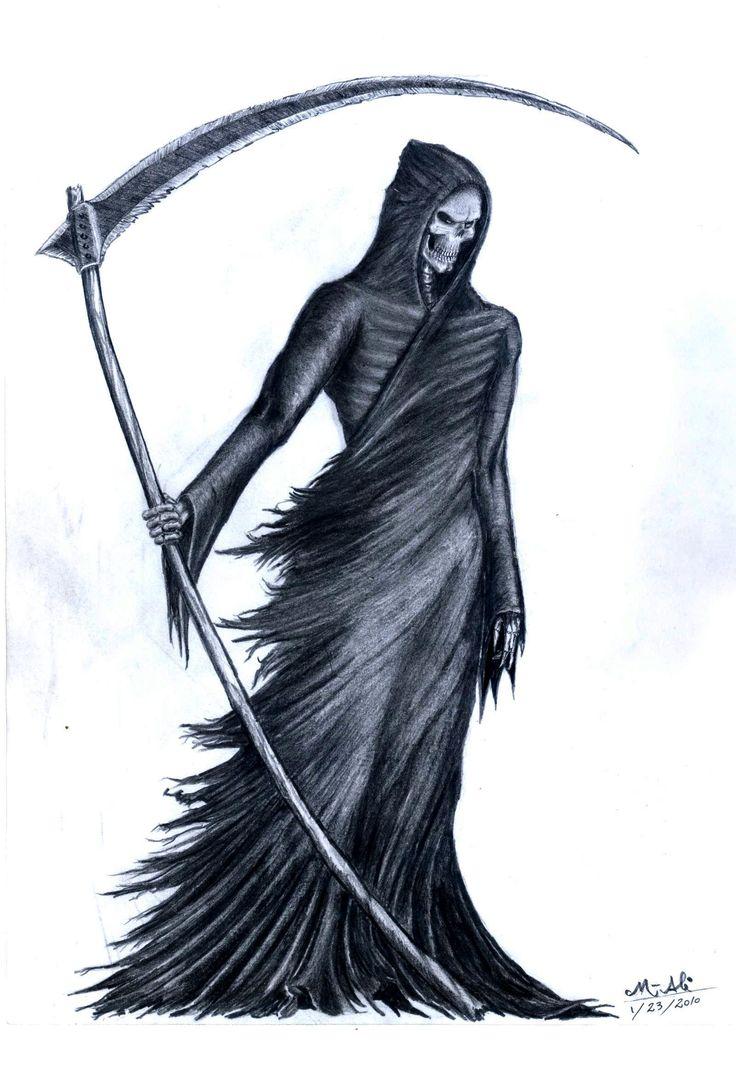 Drawn grim reaper vector Com GrimShady Grim on 25+