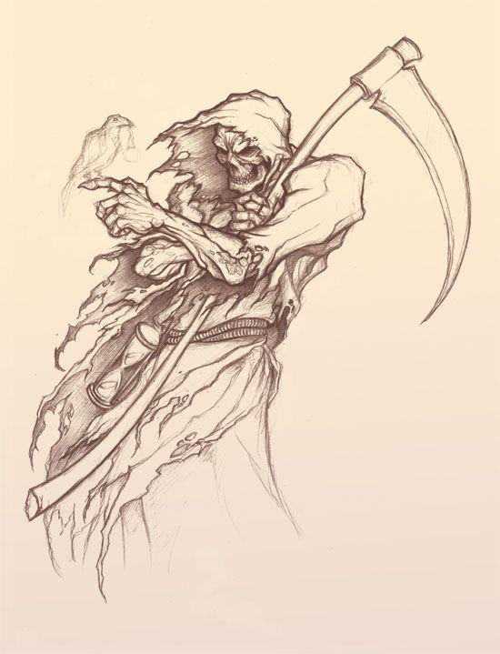 Drawn grim reaper Reaper ideas on on deviantART