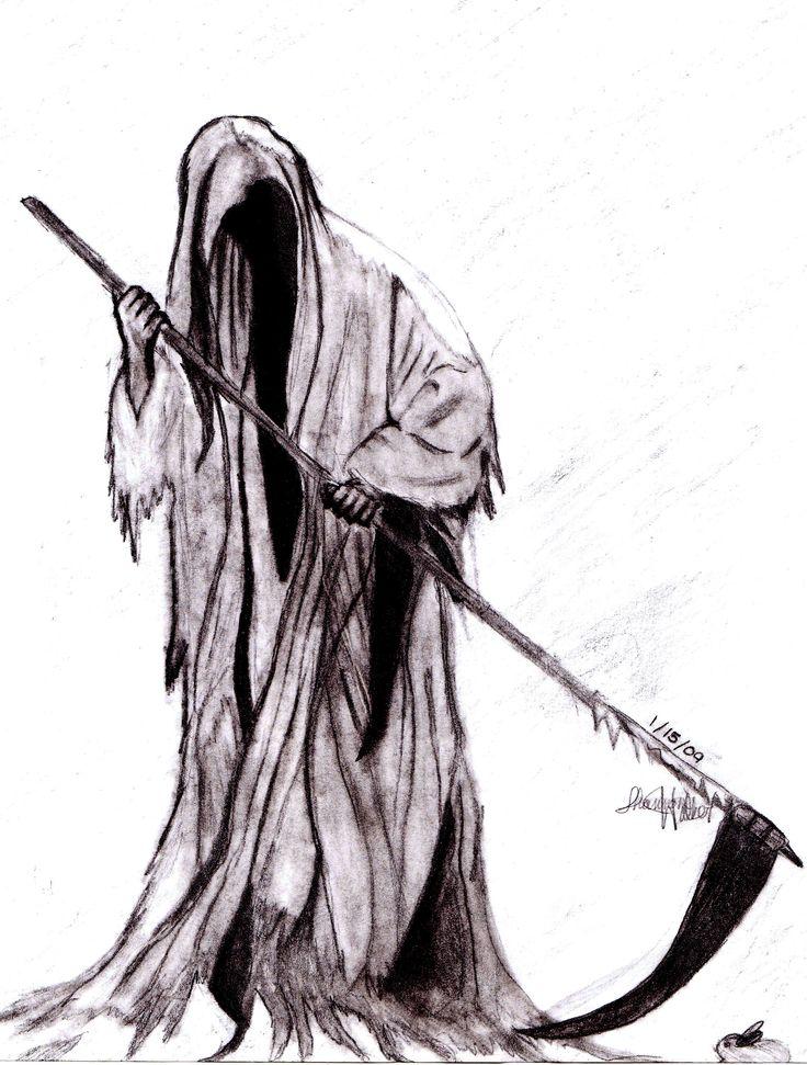 Drawn grim reaper The reaper on on deviantART