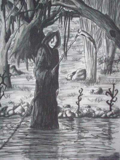Drawn grim reaper abstract Teen Reaper reaper Grim Ink