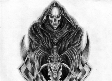 Drawn grim reaper abstract ARTWORK Abstract & Fantasy REAPER