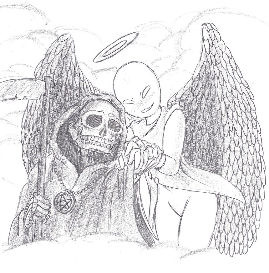Drawn grim reaper angel wing An by by Grim Mickeymonster