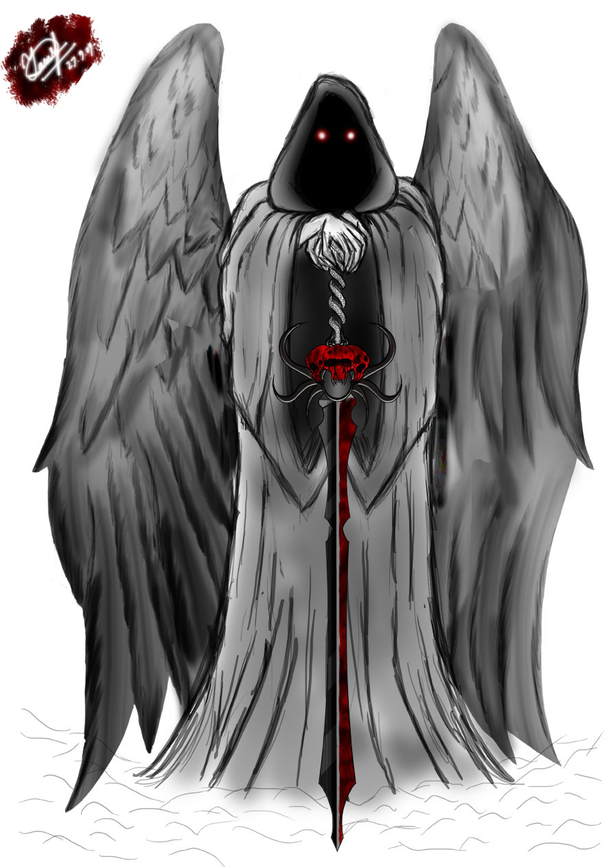 Drawn grim reaper angel wing Old image self  the