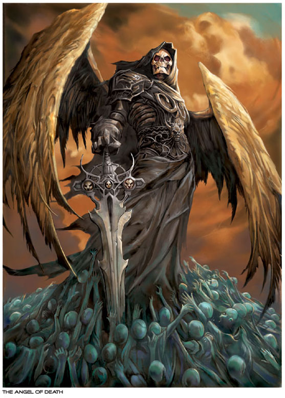 Drawn grim reaper angel wing Tattoos: of skeleton Tattoo with