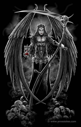 Drawn grim reaper angel wing Drawing Wings Angel Reaper